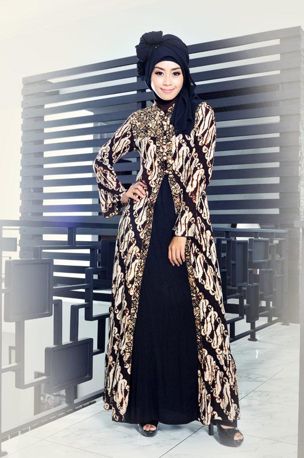 gamis batik, gamis batik modern, baju batik, baju batik wanita, batik pekalongan